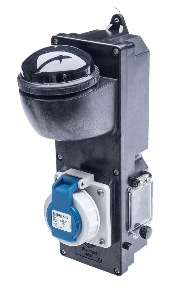 Schaltbare Mastanbausteckdose HSW 4060